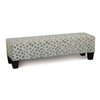 Ocelot Upholstered Bench in Silver