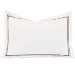 Enzo White/Brown Boudoir Sham
