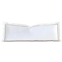 Linea Velvet Ribbon Grand Sham In White & Aloe