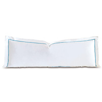 Linea Velvet Ribbon Grand Sham In White & Azure