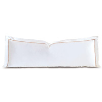 Linea Velvet Ribbon Grand Sham In White & Nectar