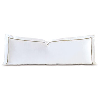 Linea Velvet Ribbon Grand Sham In White & Oliva