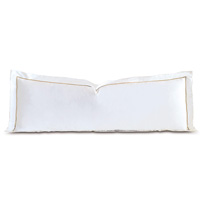 Linea Velvet Ribbon Grand Sham In White & Sable
