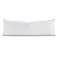 Tessa White/Blush Grand Sham
