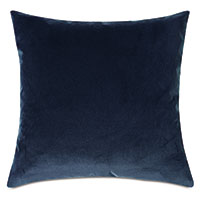 Plush Velvet Decorative Pillow In Denim