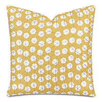Ollie Embroidered Decorative Pillow In Sunshine