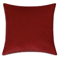 Uma Velvet Decorative Pillow In Rust