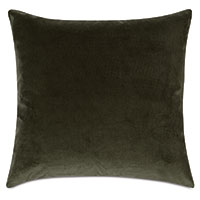 Uma Velvet Decorative Pillow In Olive