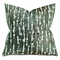 Phylum Chenille Decorative Pillow In Green