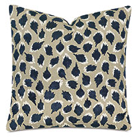 Ocelot Decorative Pillow In Navy