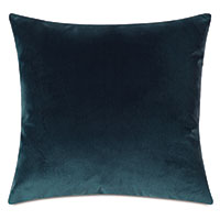 Uma Velvet Decorative Pillow In Pacific