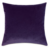 Uma Velvet Decorative Pillow In Purple