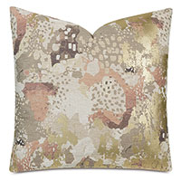 Chalamet Metallic Decorative Pillow in Honey