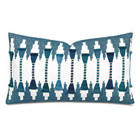 Amani Fil Coupe Decorative Pillow In Teal