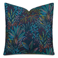 Cummings Embroidered Decorative Pillow in Dusk