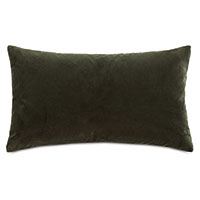 Uma Velvet Decorative Pillow In Olive Green