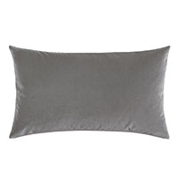 Uma Velvet Decorative Pillow In Gray
