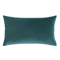 Uma Velvet Decorative Pillow In Teal