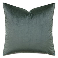 Mint Punch Velvet Accent Pillow In Dark Green