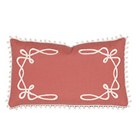 Palmsicle Loop Trim Decorative Pillow