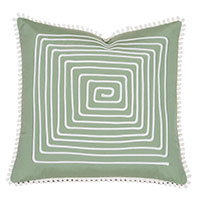 Ibis Loop Trim Decorative Pillow