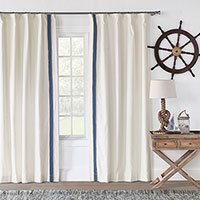 Filly White Curtain Panel Left