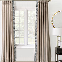 Maddox Velvet Curtain Panel Left