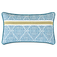 Clementine Trim Application Decorative Pillow