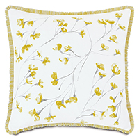 Clementine Handpainted Decorative Pillow