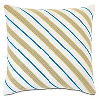 Clementine Diagonal Trim Decorative Pillow