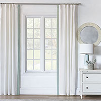 Breeze Shell Curtain Panel Right