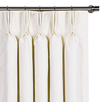 Edris White Curtain Panel