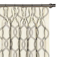Gresham Gray Curtain Panel