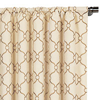 Theodore Biscuit Curtain Panel