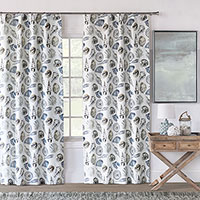 Persea Seashell Curtain Panel