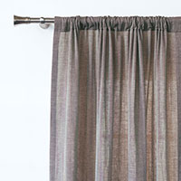 Fossil Rod Pocket Curtain Panel