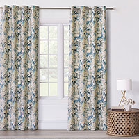 Tabitha Watercolor Paisley Curtain Panel