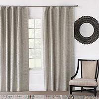 Evangeline Rod Pocket Curtain Panel In Taupe