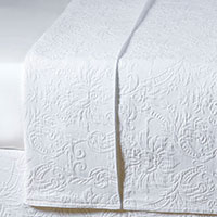 Sandrine White Coverlet