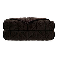 Nova Quilted Velvet Coverlet In Cocoa