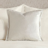 Adrienne Metallic Decorative Pillow In Frost