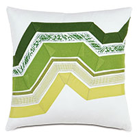 Adelle Ombre Decorative Pillow In Green