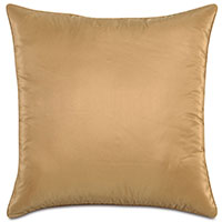 Freda Taffeta Decorative Pillow in Gold