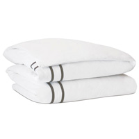 Autry White Duvet Cover