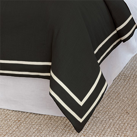 Resort Black Fret Duvet Cover