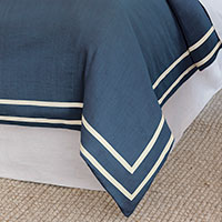 Resort Indigo Fret Duvet Cover
