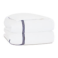 Tessa White/Navy Duvet Cover