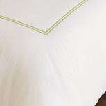 Enzo Ivory/Lime Duvet Cover