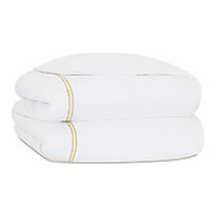 Enzo White/Bisque Duvet Cover