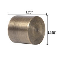 Metallo Brushed Brass Flush End Cap Pair